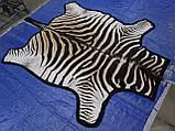 Шкура из африканской зебры на пол сделанная ковром, фото 2
