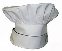 Колпак повара белый с кантом
