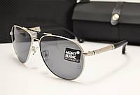 Мужские солнцезащитные очки Montblanc 374 Silver
