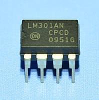 Микросхема LM301AN  dip8  ON
