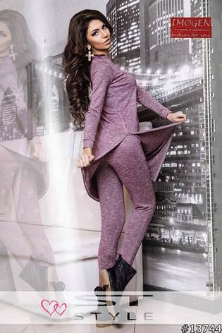 Трикотажный женский костюм для прогулок, фото 2