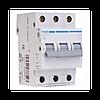Автоматический выключатель Hager MC302A In=1 А, 3п, С, 6 kA, 3м