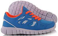 Голубые спортивные кроссовки для девушек