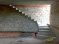 Изготовление бетонных лестниц, строительство