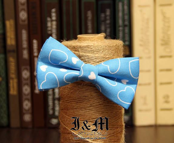 Галстук-бабочка I&M Craft с сердечками (00130), фото 2