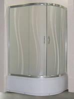 Душевая кабина SANTEH ROLA 115х85 левая, глубокий поддон, стекло узор