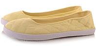 Женские балетки, лодочки туфли , туфли, на плоской подошве от производителя  летние желтого цвета