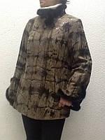 Куртка кожаная женская на молнии с норкой, фото 1