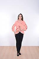 Мягкое кашемировое пальто нежного персикового цвета