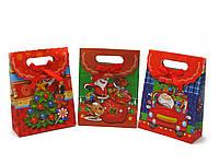"""Пакет подарочный """"Новый год"""" картон (12 шт/уп) (20х15 см)"""