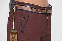 Модные стильные джинсы брюки коричневые REDMAN