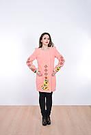 Стильное кашемировое пальто средней длины с оригинальным вырезом