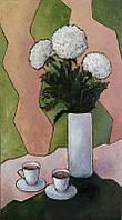 «Белые хризантемы» картина маслом