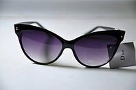 Очки женские брендовые солнцезащитные Dior Диор в черной оправе, фото 1