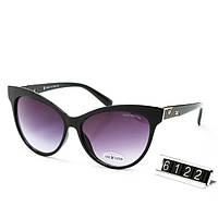 Очки женские брендовые солнцезащитные Louis Vuitton Луи Виттон в черной оправе, фото 1
