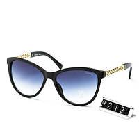 Очки женские брендовые солнцезащитные Chanel Шанель в черной оправе, фото 1