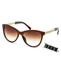 Солнцезащитные женские Очки Chanel в коричневой оправе