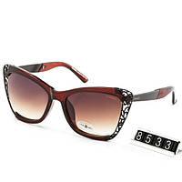 Очки женские брендовые солнцезащитные Chanel Шанель коричневые, фото 1