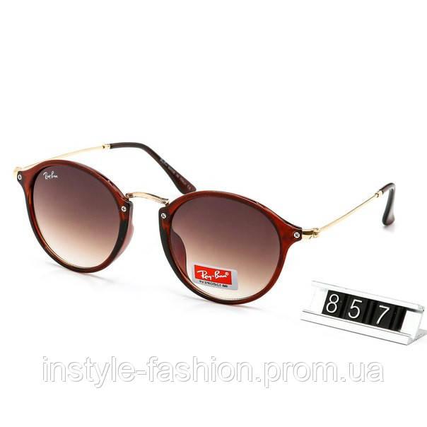 000370610733 Очки Ray Ban коричневые с тонкими дужками - Сумки брендовые, кошельки, очки,  женская