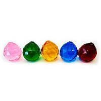 Кристалл хрустальный подвесной цветной (3 см)(QG003)