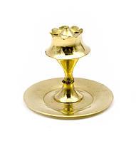 "Подставка под благовония ""Пешка"" бронза (5х5х5 см)(Agarbatti Stand small)"