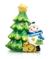 Снеговик под ёлкой (4 шт/уп)(8,5х6,5х6 см)(W945024B)