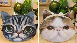 Распродажа Эксклюзивные Кошелек принт кот/пес, фото 2