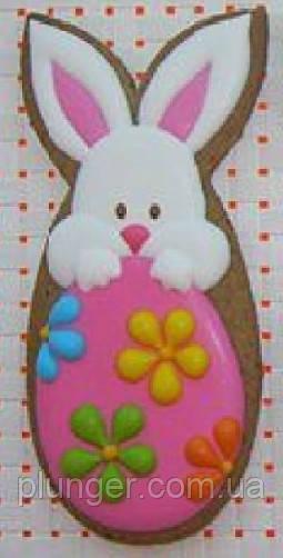Вирубка для пряника Кролик з яйцем