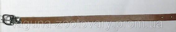 Ошейник 20-26см/10мм для собаки, рыжий/ натуральная кожа.
