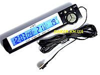 Автомобильные часы с термометром VST 7043, фото 1