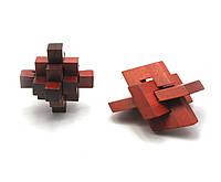 Головоломка деревянная (10х4х10 см)