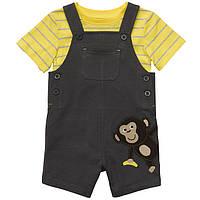 Комплект для мальчика (полукомбинезон и футболка) 12 месяцев, фото 1