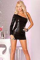 Платье Glitterati sequin dress black, S/М, М/L