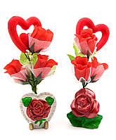 Букет из роз с сердечком (22х9х5,5 см)(GF117)