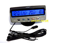 Автомобильные часы с термометром VST 7045, фото 1