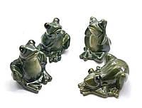 Лягушка керамическая (4 шт.в уп.)(10х8,5х5,5 см)(9D082)