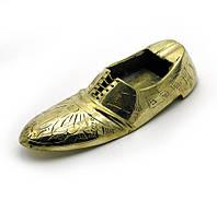 """Пепельница туфля бронзовая (9,5х3,5х2 см)(2"""")"""
