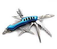 Нож складной с набором инструментов (11 в1)(8 см)(KY3011LG)
