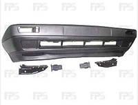 Бампер передний 89- широкий без отверстия противотуманки +шина+спойлер на Volkswagen Golf 2 83-91 фольксваген
