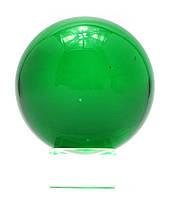 Шар хрустальный на подставке зеленый (6см)