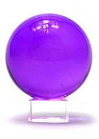 Шар хрустальный на подставке фиолетовый (6 см)