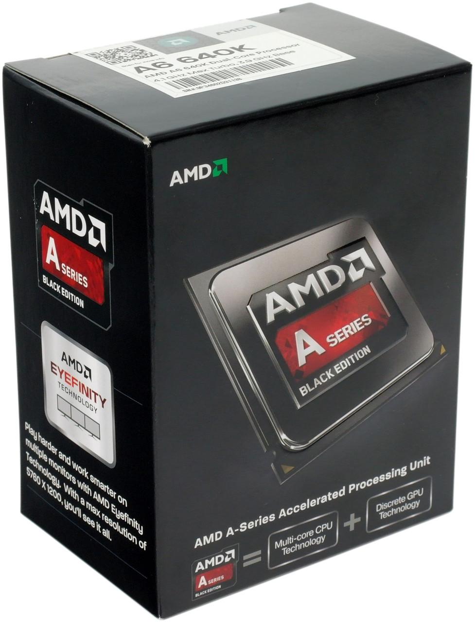 """Процессор AMD A6-6400K 3.9GHz BOX Richland  """"Over-Stock"""""""
