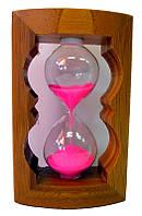 Часы песочные в бамбуке (11,5х8,5х4,5 см)(215)