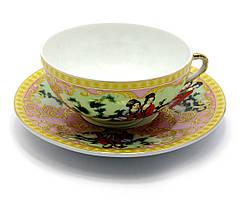 "Чашка+блюдце фарфор (SBS108-8) ""Розовый"" (36шт.в ящ.)"