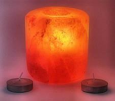 Подсвечник соляной шлифованный цилиндрический(S-021)(d-9,h-9 см)(12 шт ящ.)