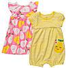 Летний комплект для девочки (платье и песочник) Carter's  6 месяцев