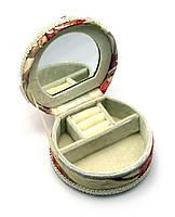 Шкатулка для украшений с зеркальцем (11х12х6 см)(124-29)