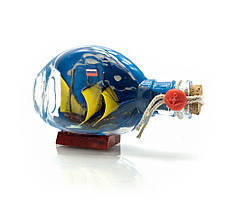 Парусник в бутылке (13,5х8х5,5 см)(AE6483)