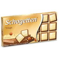 """Шоколад молочный Schogetten """"Trilogia"""" , 100г,"""