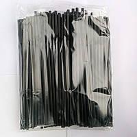 Трубочки Черные с коленом (200 шт/уп)